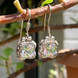 Silpada Uptown CZ Sterling Silver Earrings